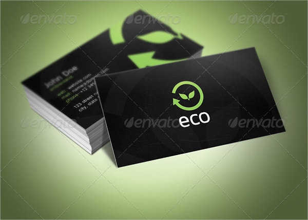 eco business card template