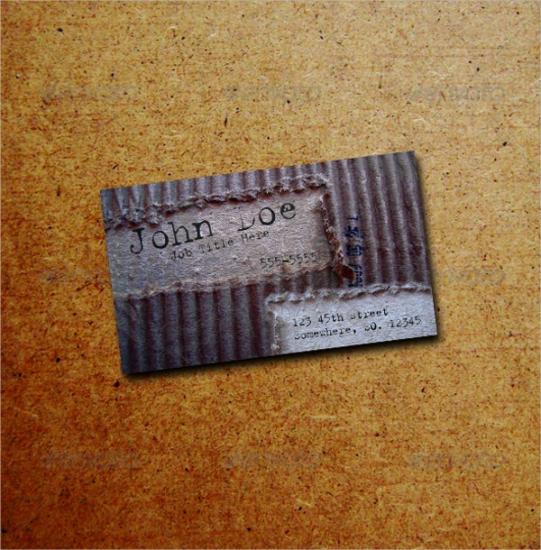 artistic creative business card