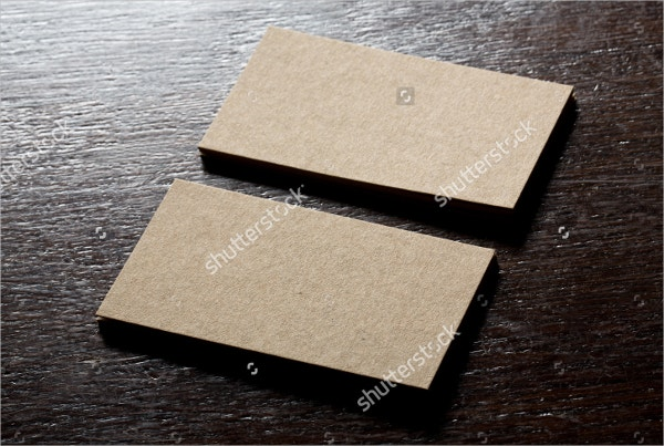 Recycled Blank Business Card