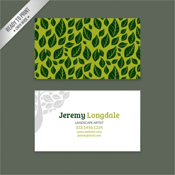18 recycled business cards psd ai vector eps free premium green business card with leaves friedricerecipe Images