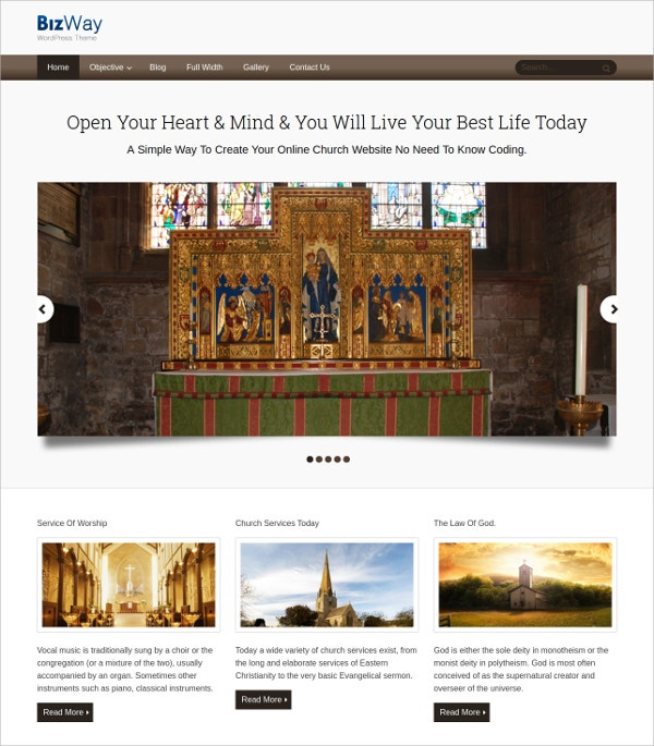 Simple Minimal WordPress Theme $59