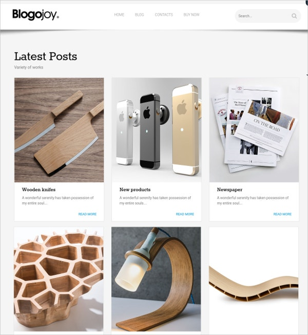 Minimalist Blog WordPress Theme