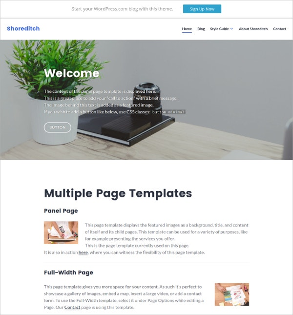 Online Business Minimal WordPress Theme
