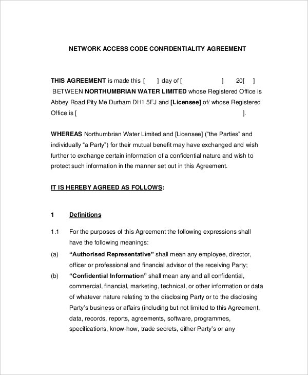 standard mutual confidentiality agreement sample