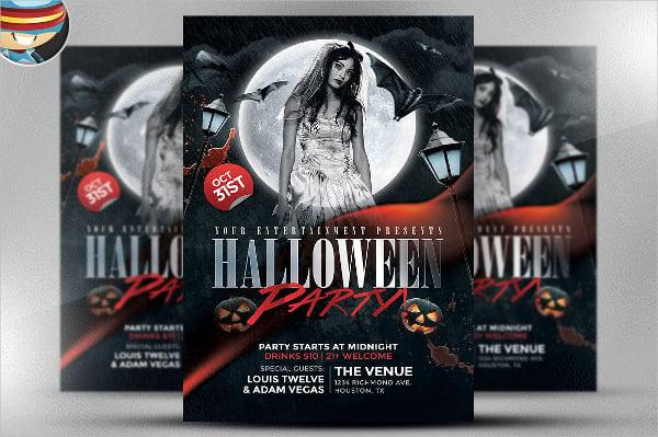 Halloween Club Flyer Template  Club Flyer Background