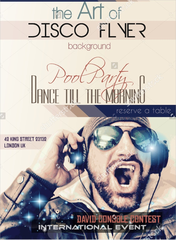 disco night club flyer template