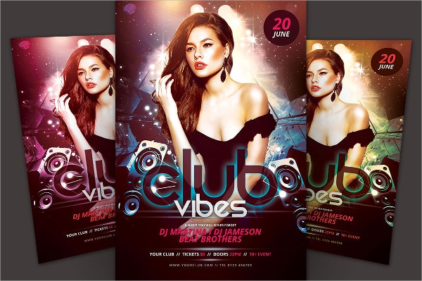 Trance Club Flyer Template