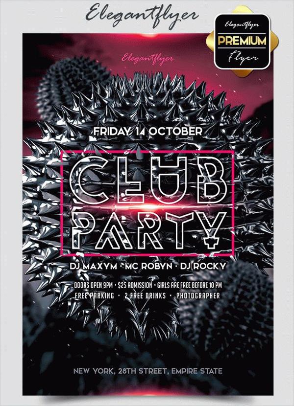 elegant premium club flyer