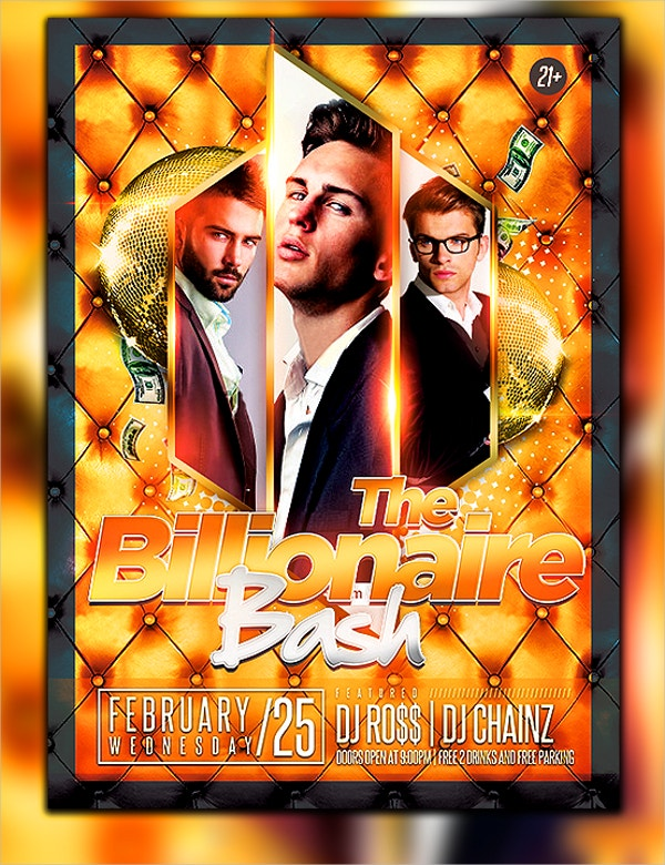 billionaire club flyer template
