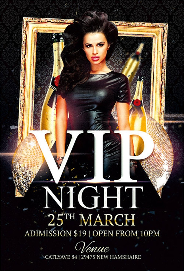 Vip Night Club Free Flyer Template