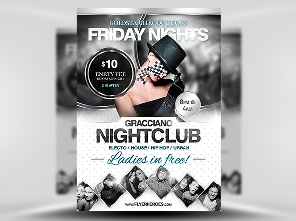 gracciano club flyer template