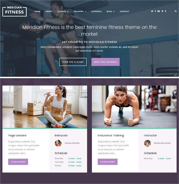 Feminine Fitnes, Gym WordPress Theme $49