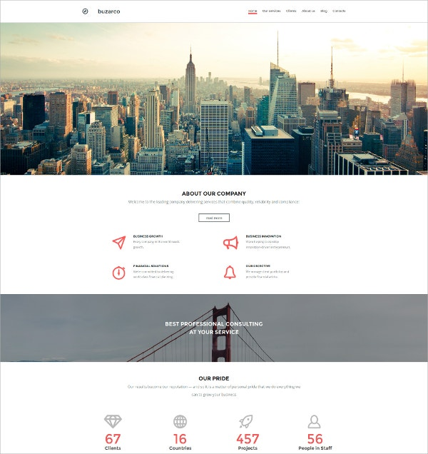 Business Responsive Moto Blog Template $199
