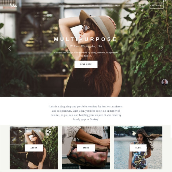 Blog Shop Theme For Creatives $39