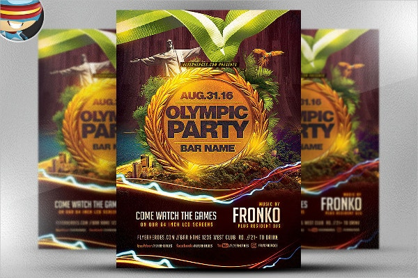 Sports Party Flyer Template
