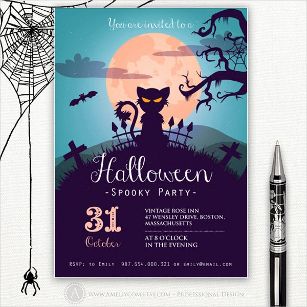Halloween Spooky Party Flyer Template
