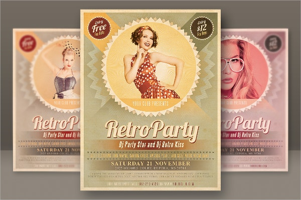 Retro DJ Party Flyer Template
