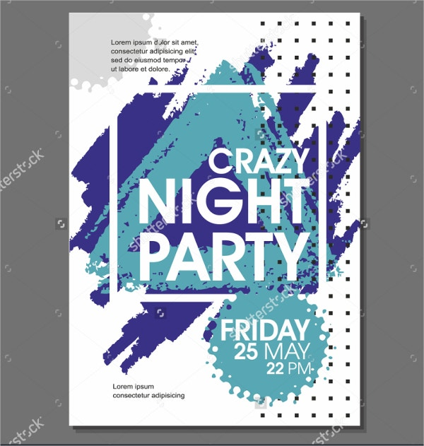 Crazy Night Party Flyer Template