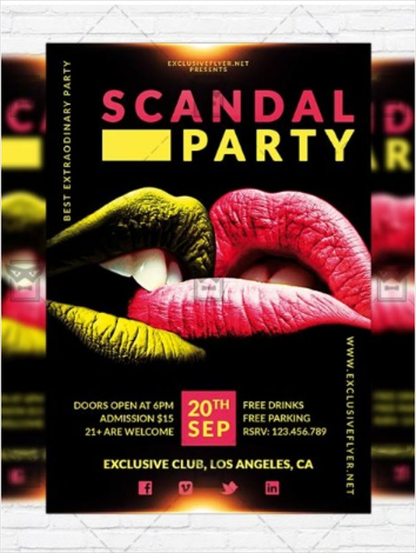 Scandal Party Premium Flyer Template