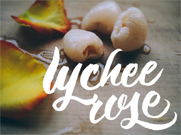lychee rose brush letters