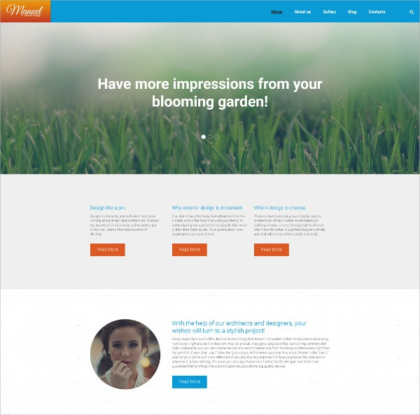 Design Photography WordPress Theme $75