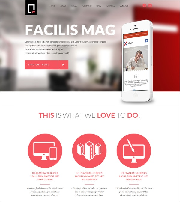 Multipurpose Responsive White WordPress Theme $49