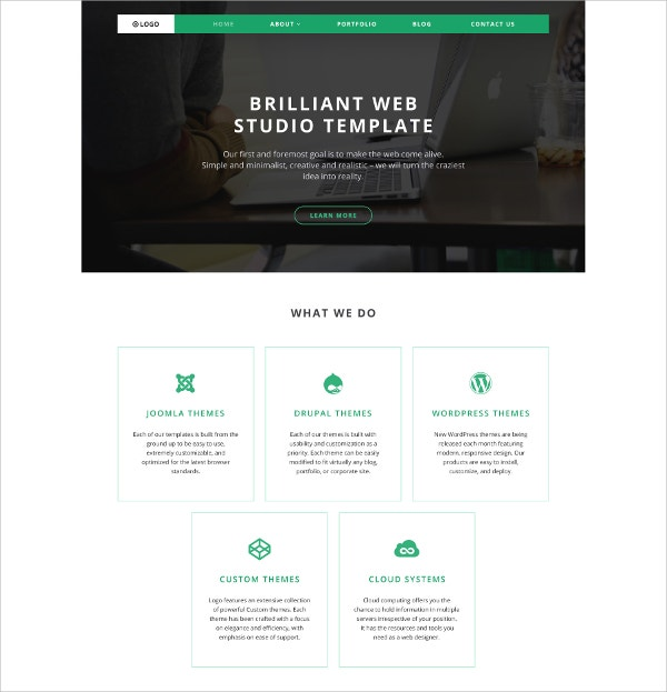 Premium Logo White WordPress Theme $75