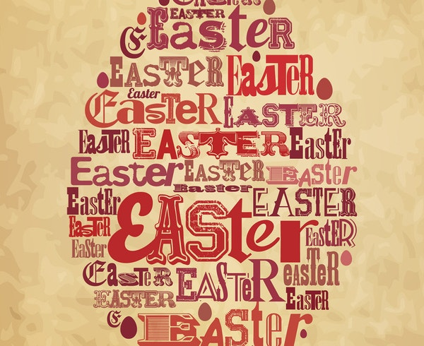 easter poster vector template