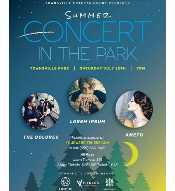 summer concert flyer template