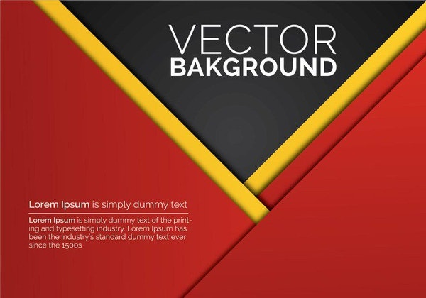 abstract red paper background vector
