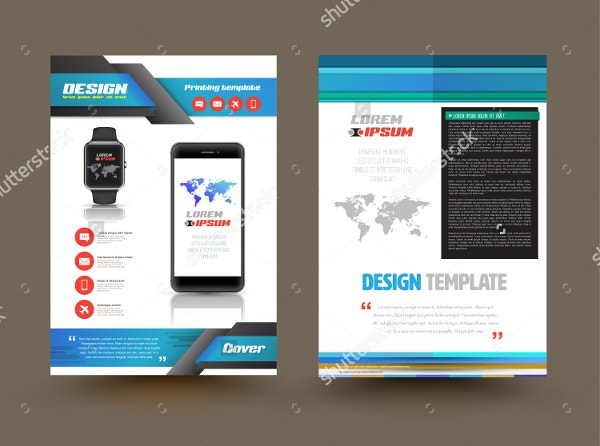 Vector Brochure Template Design for Technology Product