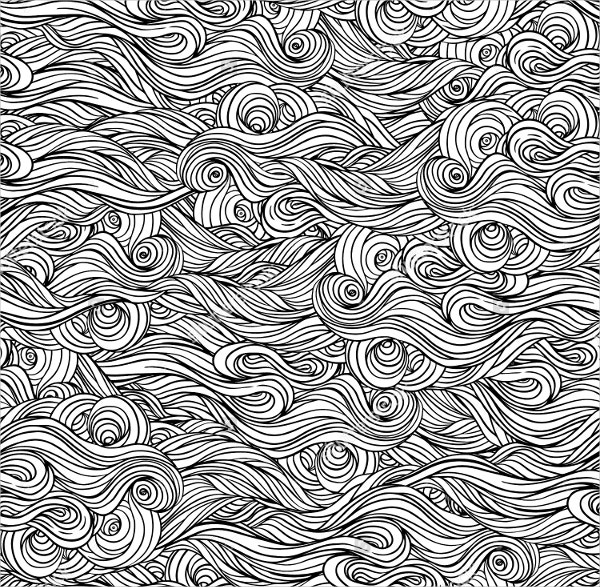 Black & White Wave Patterns
