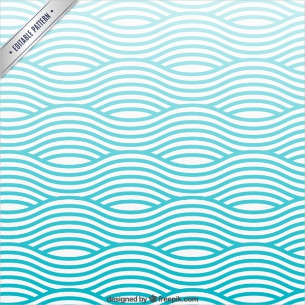Waves Pattern Free Vector