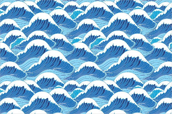 Beautiful Wave Pattern Set