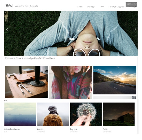 Minimalist Free Photography WordPress Theme