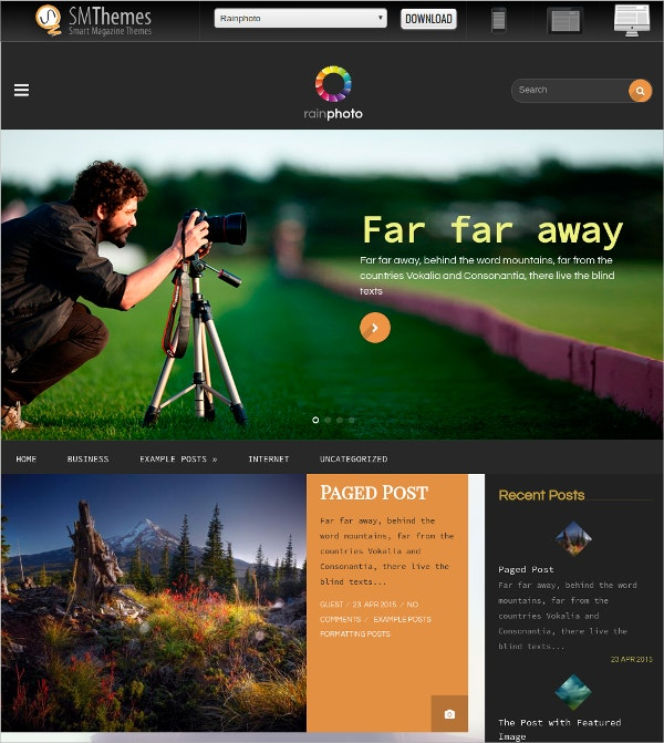 Free Design Photography WordPress Theme