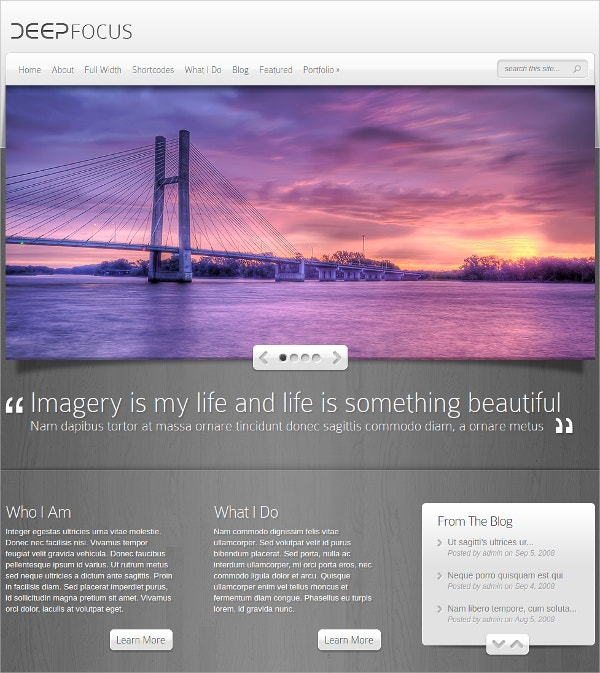 Beautiful Free Photography WordPress Theme