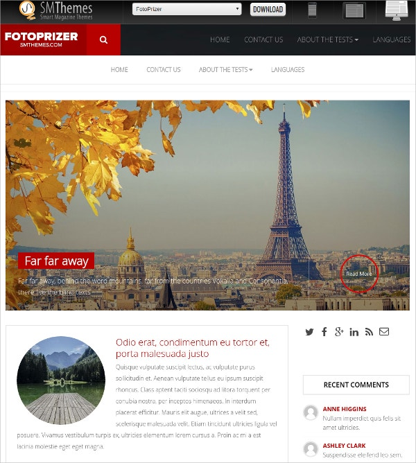 Free Travel Tour WordPress Photography Theme