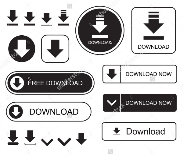 Download Button in Silhouette Style