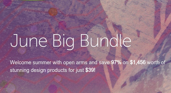 June Big Bundle from Creative Market - $39