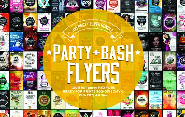 96% OFF on 100 Party & Bash Flyer Templates