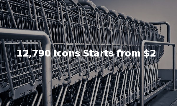 12,790 Icons Starts from $2