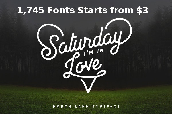 1,745 Fonts Starts from $3