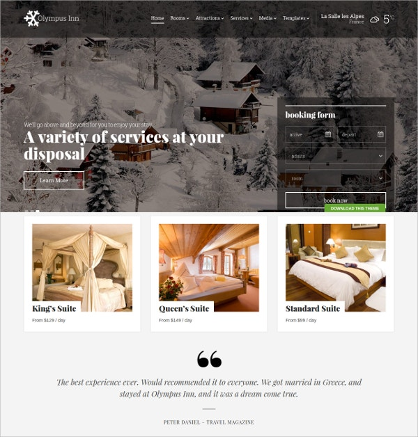 Free WordPress Beautiful Restaurant Theme