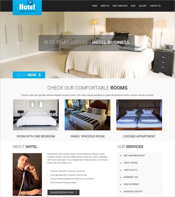 premium professional hotel restaurant wordpress theme