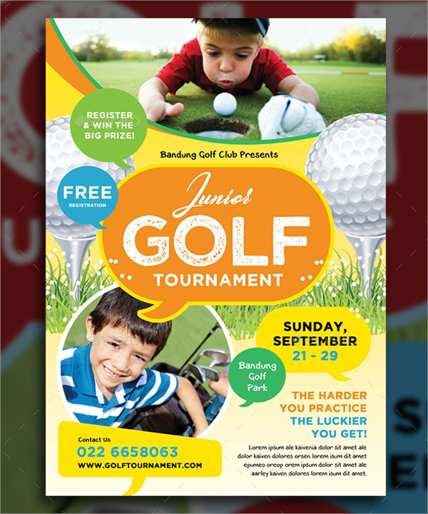 Junior Golf Tournament Flyer