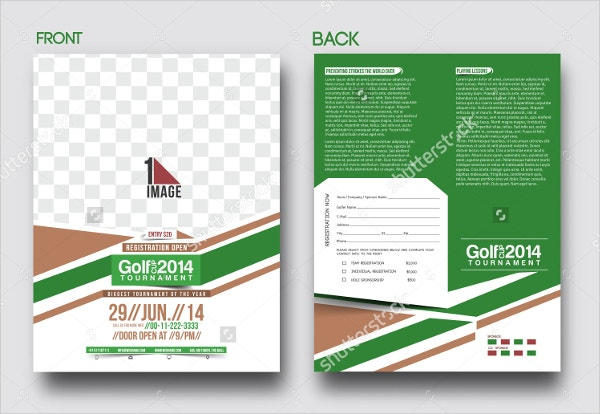 golf league front back flyer