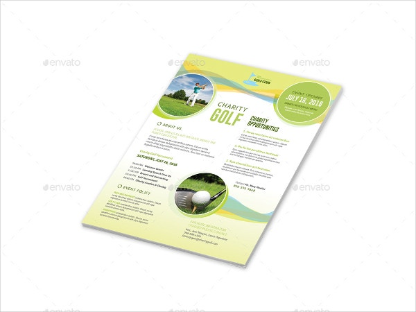 Charity Golf Flyer Template