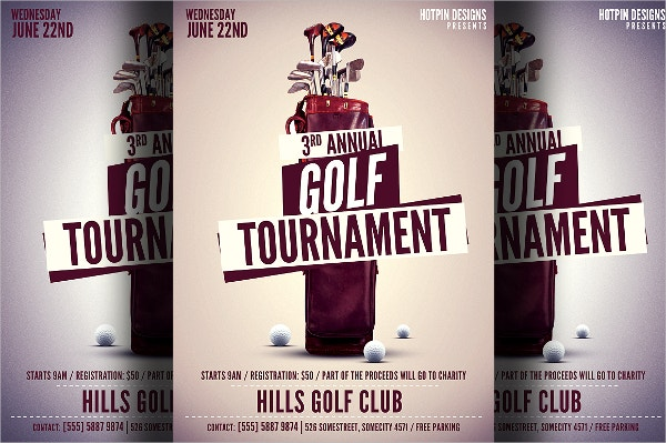 golf championship flyer template