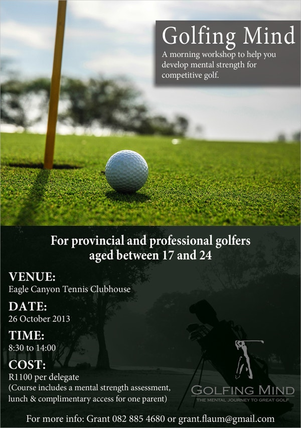 Proffesional Golf Event flyer